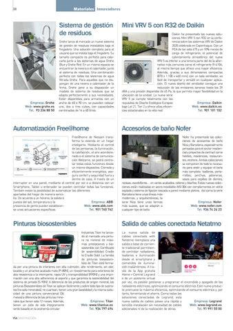 Page 38 of Novedades en materiales de construcción págs. 18 a 19 págs. 20 a 25