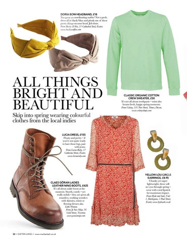 Page 30 of EDITOR'S CHOICE Fashion fancies from Exeter's finest