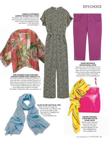Page 31 of EDITOR'S CHOICE Fashion fancies from Exeter's finest