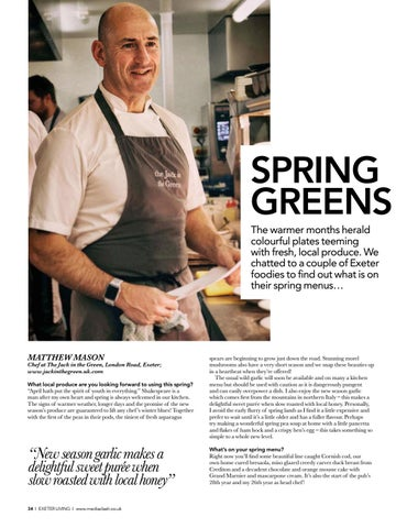 Page 34 of SPRING DINING Recipes and top tips from Exeter chefs