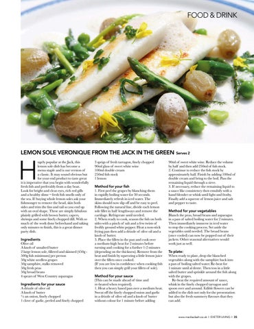 Page 35 of SPRING DINING Recipes and top tips from Exeter chefs