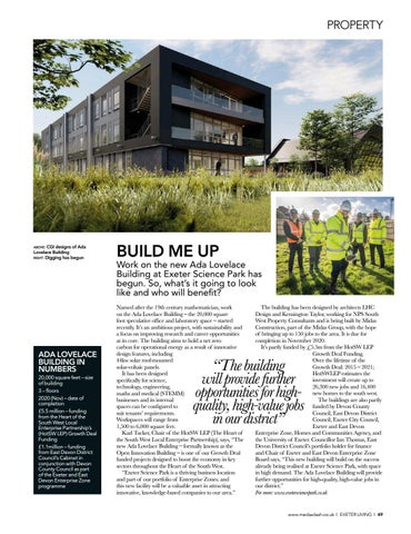 Page 49 of Devon? PROPERTY NEWS Exeter Science Park's latest project