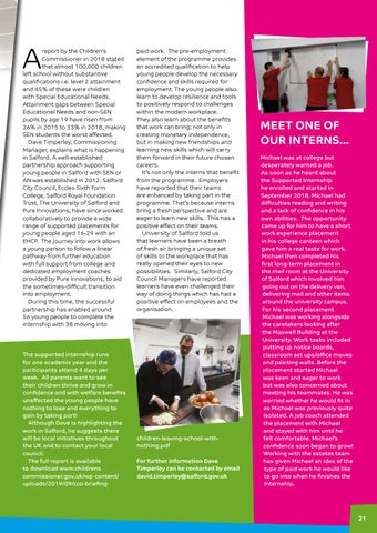 Page 21 of Supported internships