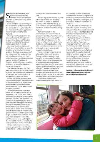 Page 7 of Rail travel – discounts for parents and carers