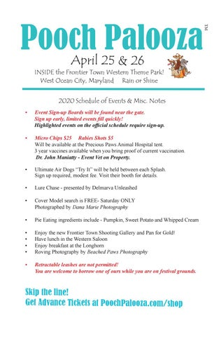 Page 16 of Pooch Palooza Schedule
