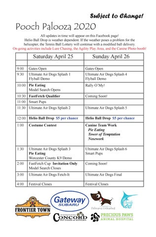 Page 17 of Pooch Palooza Schedule