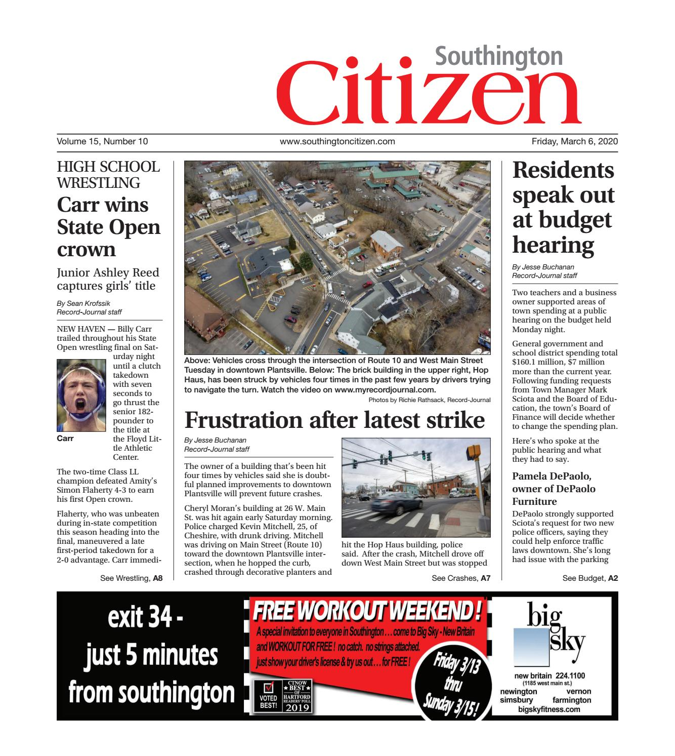 Southington Citizen March 6 2020 By Record Journal Issuu