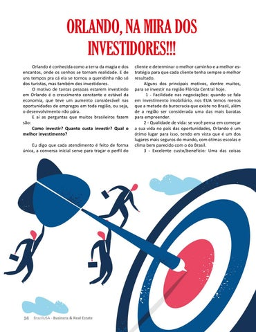 Page 14 of ORLANDO, NA MIRA DOS INVESTIDORES