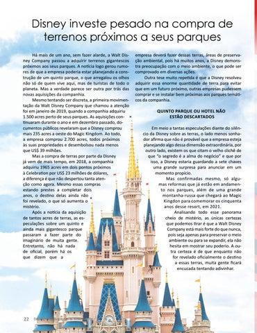 Page 22 of DISNEY INVESTE PESADO NA COMPRA DE TERRENOS PRÓXIMOS A SEUS PARQUES