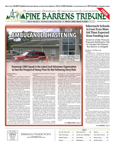 Pine Barrens Tribune March 7 2020 March 13 2020 By Pine Barrens Tribune Issuu