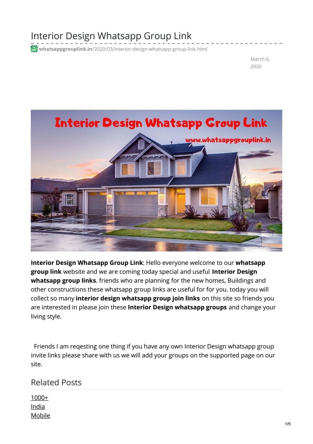 Interior Design Whatsapp Group Link By Radhakrishnasruthan7 Issuu