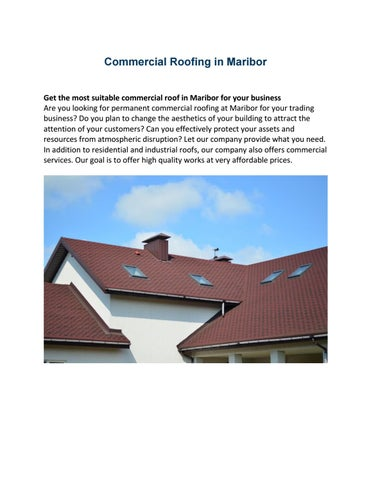 Commercial Roofing In Maribor By Krovstvomaribor Issuu