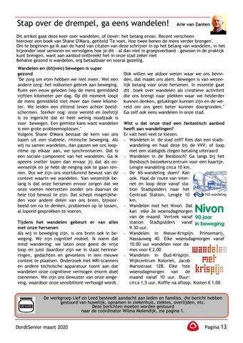 Page 15 of Joke Herrewijn de Vries: Boekbespreking Bezorgers voor de DordtSenior gevraagd