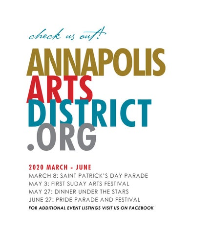 Page 83 of CALENDAR The I.W.S.A.(Inner West Street Association) & the Annapolis Arts District Calendar