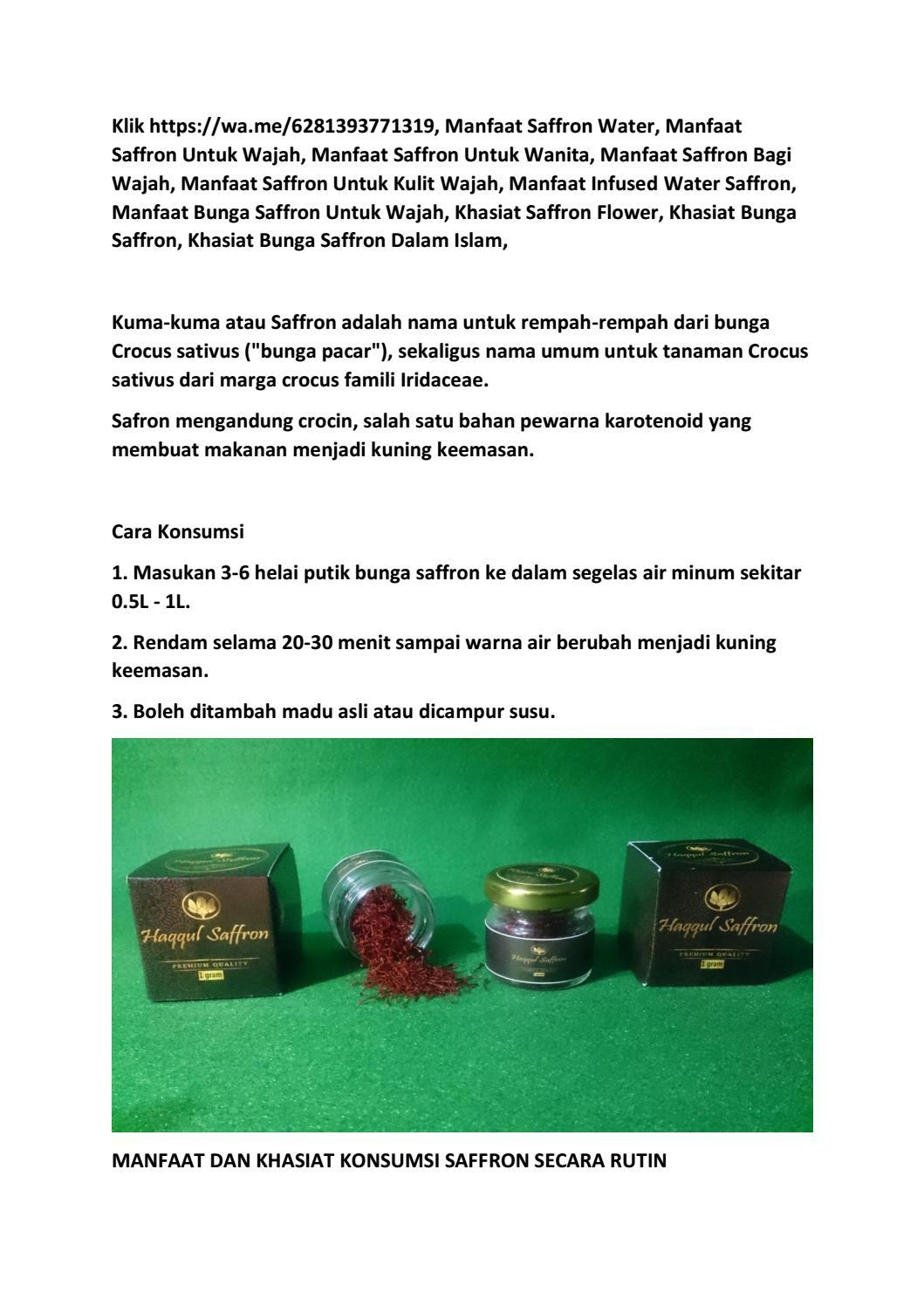 Hiqh Quality Harga Saffron Super Negin Di Kota Kendari 62 813 9377 1319 By Amri Ovan Issuu
