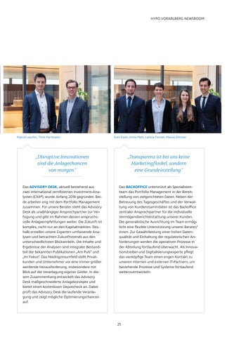 Page 25 of Die Vermögensverwaltung  der Hypo Vorarlberg