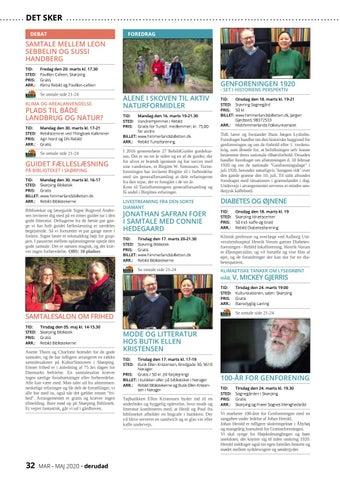Page 32 of Debat | Foredrag | Koncerter | Ud i naturen | Teater | For børn | Udstillinger | Øvrige
