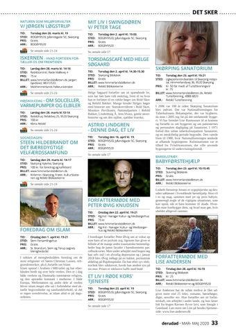 Page 33 of Debat | Foredrag | Koncerter | Ud i naturen | Teater | For børn | Udstillinger | Øvrige