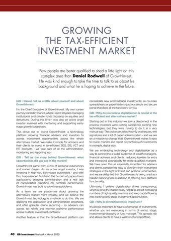 Page 40 of GROWING THE TAX-EFFICIENT INVESTMENT MARKET