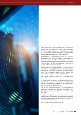 Page 41 of GROWING THE TAX-EFFICIENT INVESTMENT MARKET