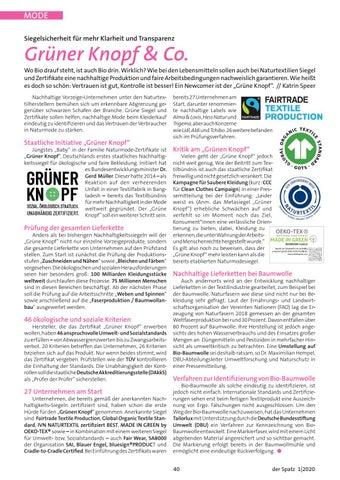 Page 40 of Textil-Siegel – Grüner Knopf & Co