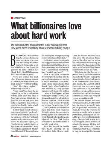 Page 28 of What billionaires love about hard work Sam Pizziga i