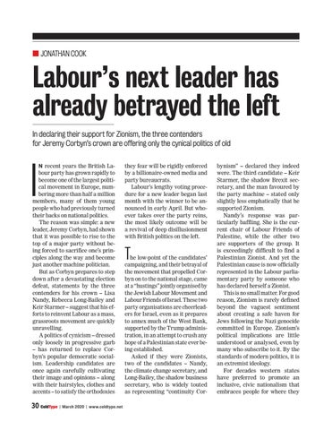 Page 30 of Labour's next leader has already betrayed the left