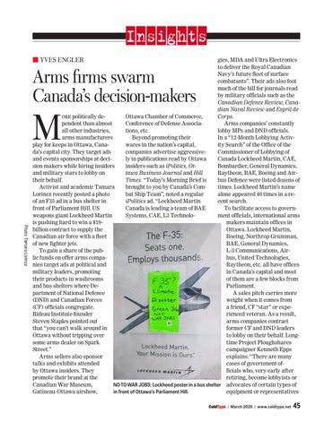 Page 45 of Arms firms swarm Canada's decision-makers