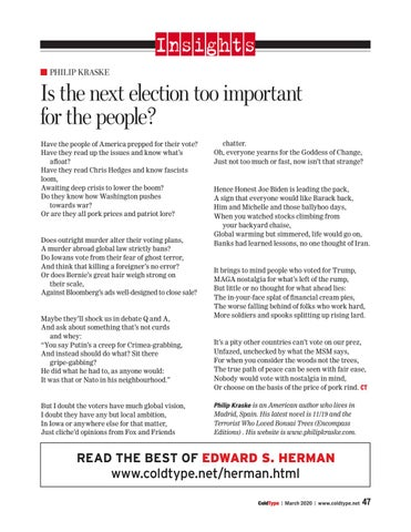 Page 47 of Is the next election too important for the people?
