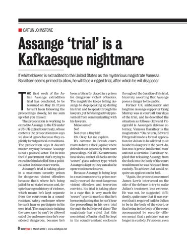 Page 8 of Assange 'trial' is a Kafkaesque nightmare