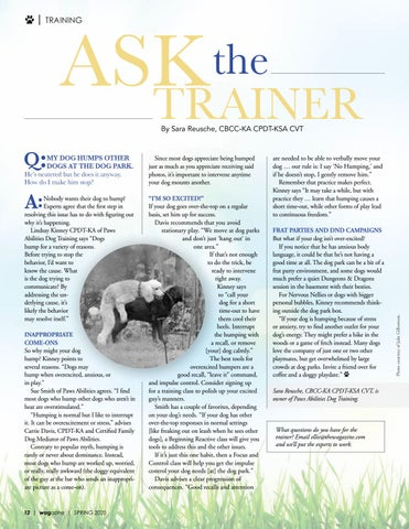 Page 12 of Ask the Trainer