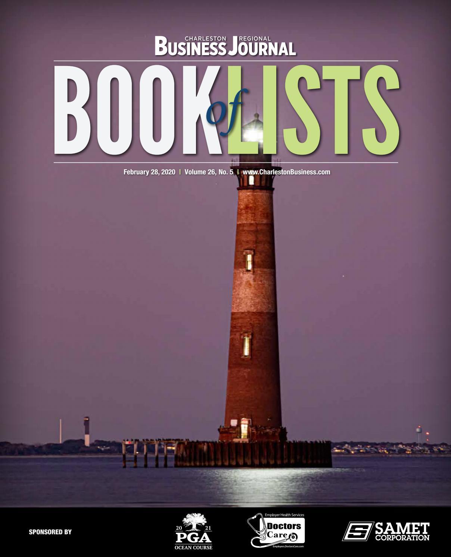 2020 Charleston Book Of Lists By Sc Biz News Issuu