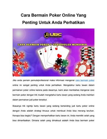 Cara Bermain Poker Online Yang Penting Untuk Anda Perhatikan By Caca Anika Issuu