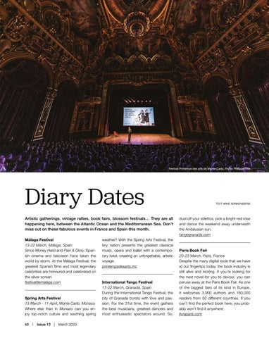 Page 60 of Diary Dates