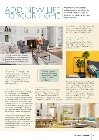 Page 3 of Improve your home's interior