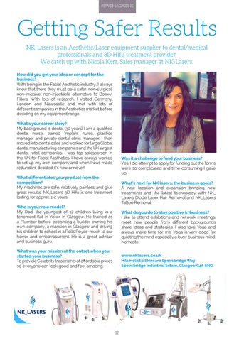 Page 12 of COVER STORY - NICOLA KERR ON THE SAFER LASER TREATMENTS