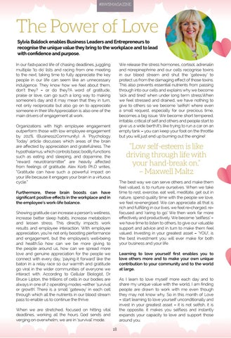 Page 18 of COVER STORY - SYLVIA BALDOCK THE POWER OF LOVE