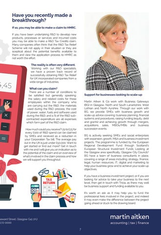 Page 7 of TRICIA HALLIDAY - MARTIN AITKEN & CO