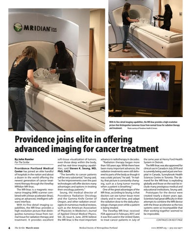 Page 4 of Providence joins elite in offering advanced imaging for cancer treatment