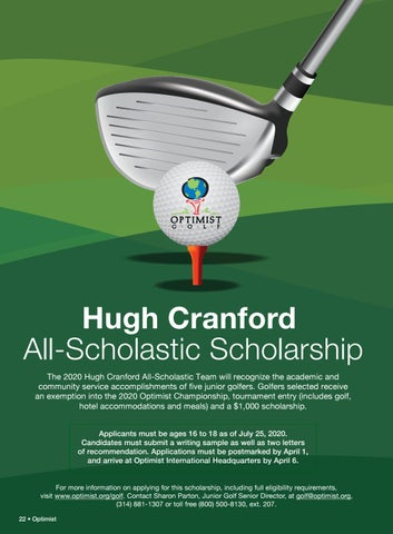 Page 24 of Optimist Junior Golf: Hugh Cranford scholarship and more