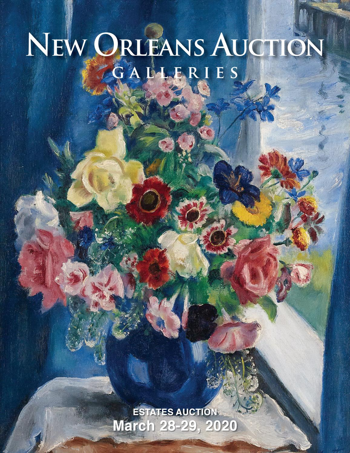 Gros Pot De Fleur En Pierre march 28-29, 2020 estates auctionnew orleans auction