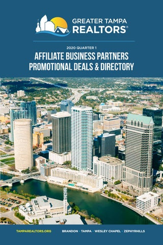 2020 Q1 Affiliate Business Partners Promotional Deals Directory By Greater Tampa Realtors Issuu
