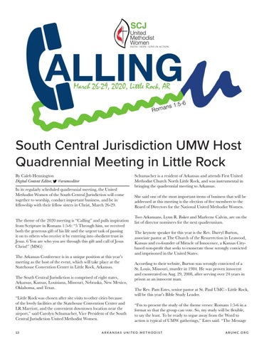 Page 14 of South Central Jurisdiction UMW Host Quadrennial Meeting in Little Rock