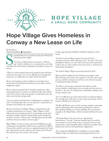 Page 24 of Hope Village Gives Homeless in Conway a New Lease on Life