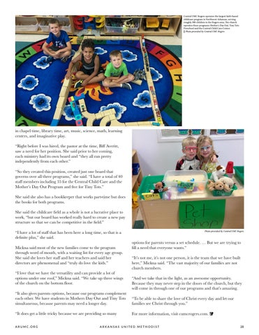 Page 29 of Central UMC Rogers Operates Largest Faith-Based Childcare in Northwest Arkansas