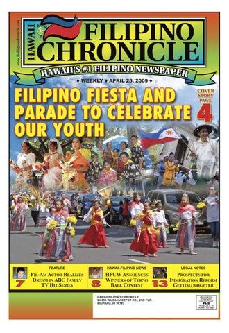 Hawaii Filipino Chronicle April 25 2009 By Hawaii Filipino Chronicle Issuu