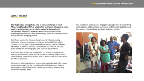 Page 6 of WHAT WE DO