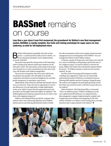 Page 15 of BASSnet Remains on Course