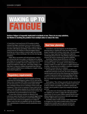 Page 8 of SAFETY: Waking up to Fatigue