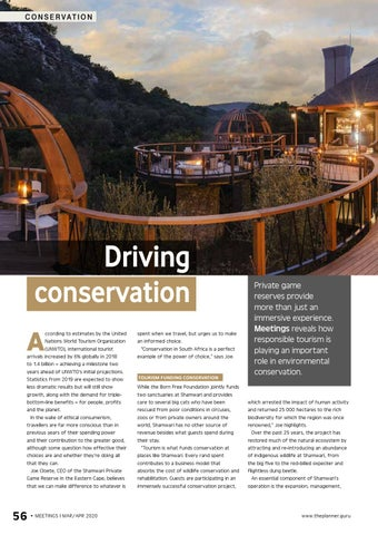 Page 58 of Driving conservation Private game reserves play an